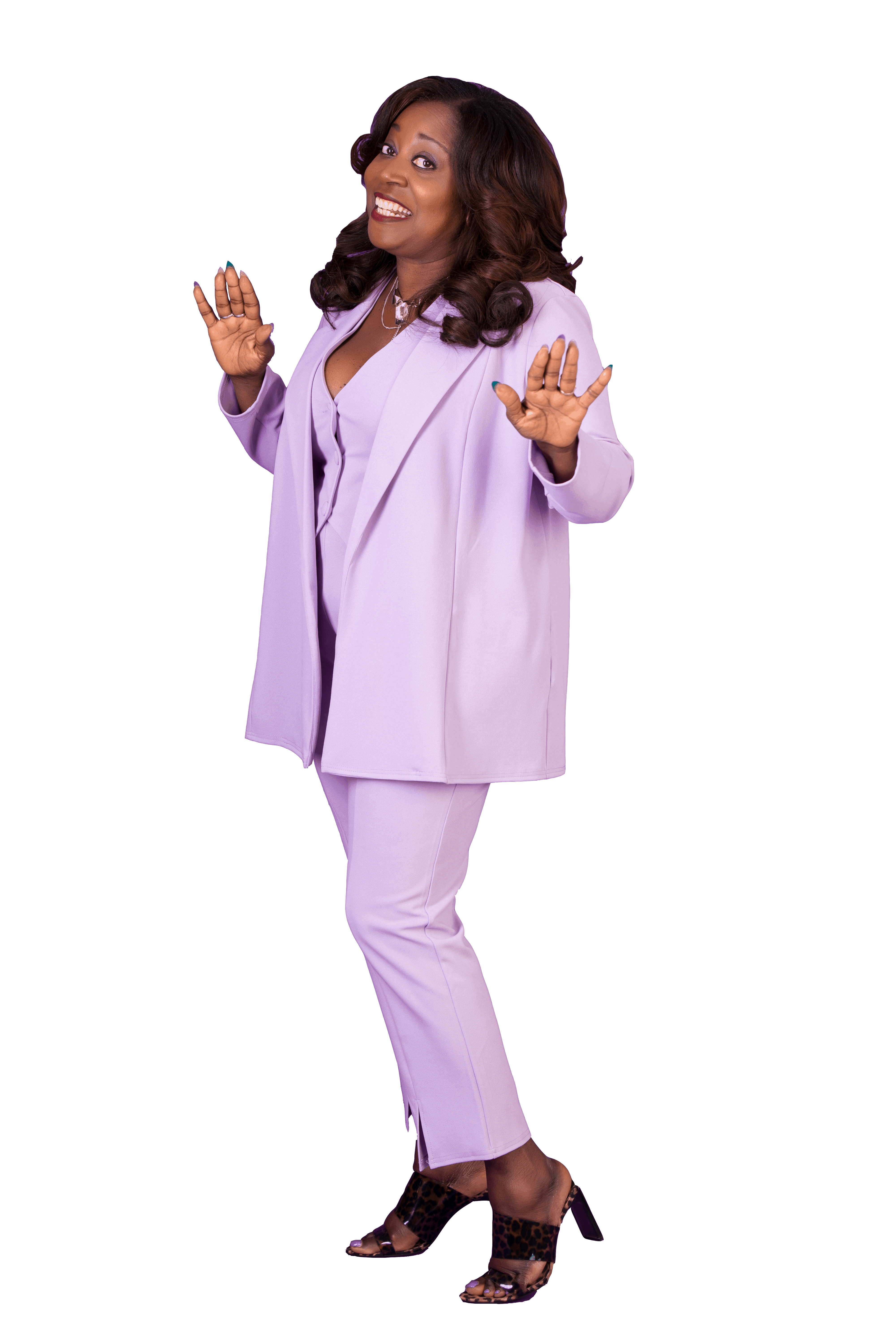 Bernie in a purple suit